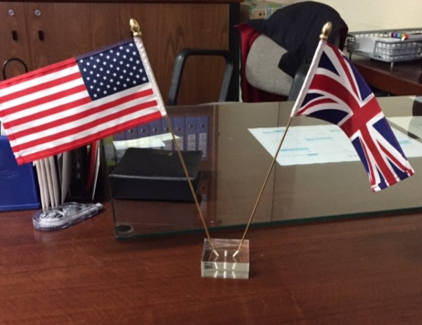 acrylic desk flags