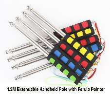 Hand held extendable flagpole 1.2 mtr