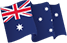 Australian Flag, 1830mm x 915mm (2 yard), incl flag pole clips