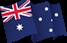 Australian Flag, 1830mm x 915mm (2 yard), incl flag pole clips